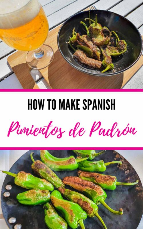 Cooking Padrón Peppers – How to Make Spanish Pimientos de Padrón Recipe pin